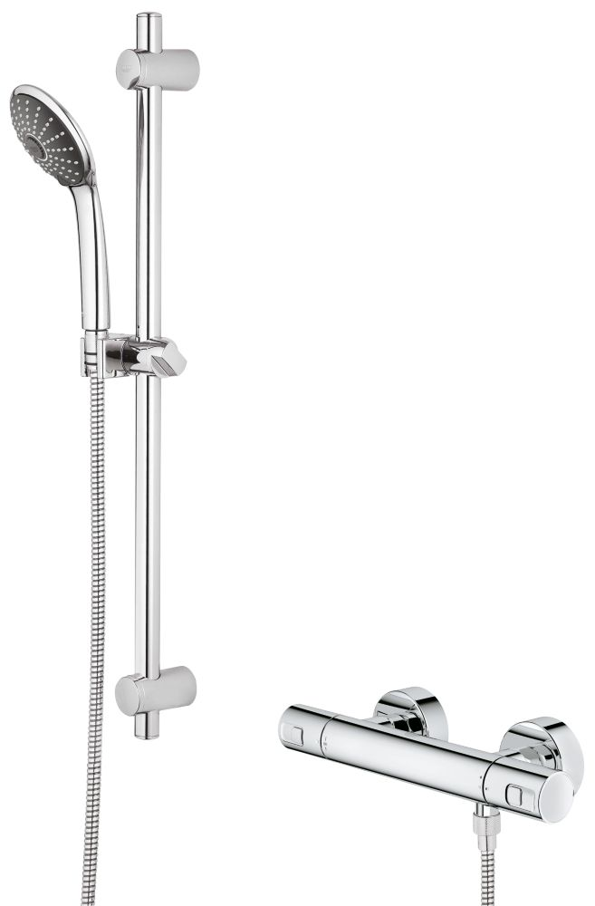 Grohe Precision Joy Thermostatic Mixer Shower Exposed Chrome