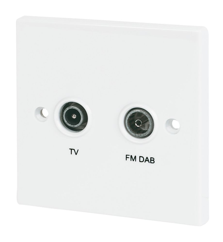 Labgear Screened Flush Diplexed Socket FM-DAB/UHF