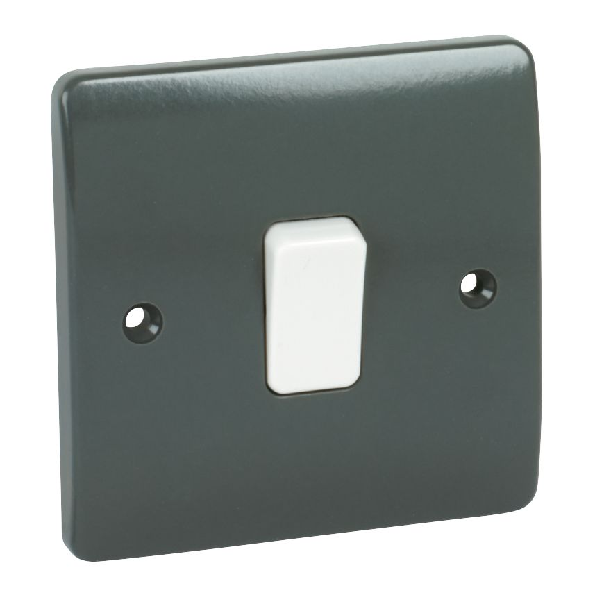 MK Logic Plus 1-Gang 2-Way 10AX SP Light Switch Graphite