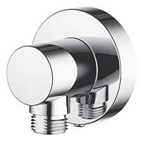 Aqualisa Shower Hose Wall Outlet Chrome 67mm