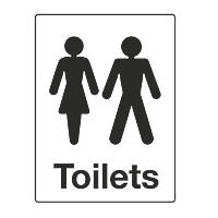 Ladies / Gents Toilet Sign 200 x 150mm