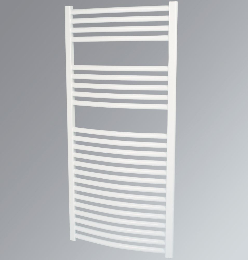 Kudox Curved Towel Radiator White 1100 x 600mm 631W 2153Btu