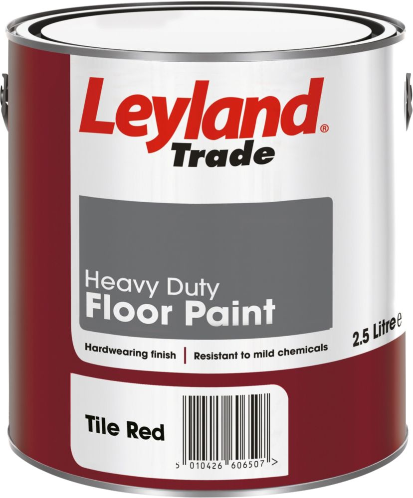 Leyland Heavy Duty Floor Paint Tile Red 2.5Ltr