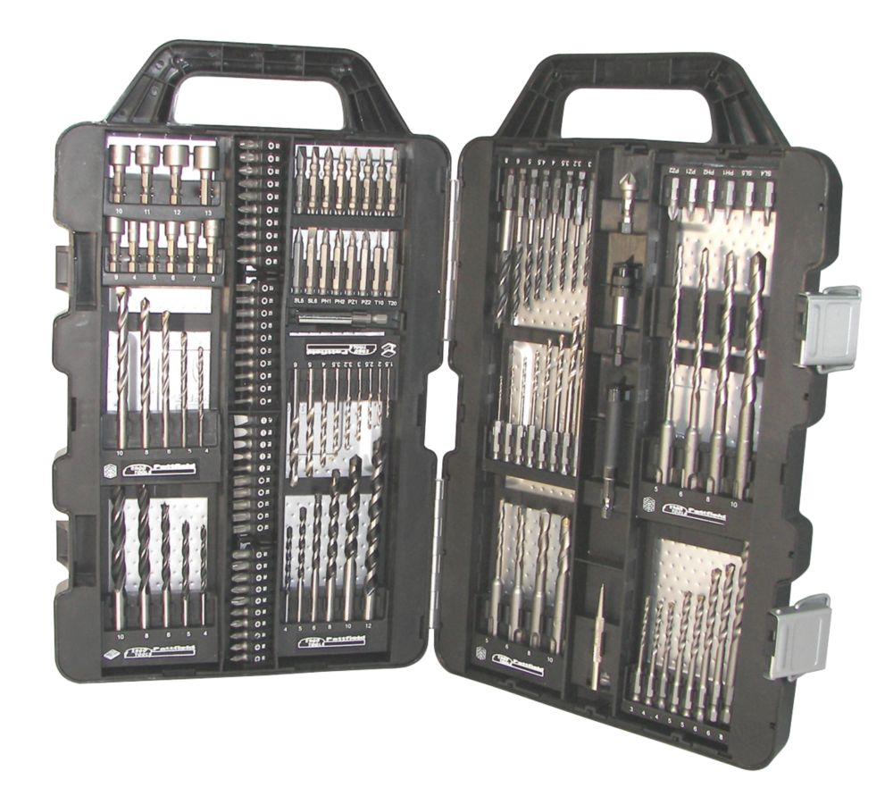Erbauer Combination Drill Bit Set & Metal Case 134 Piece Set