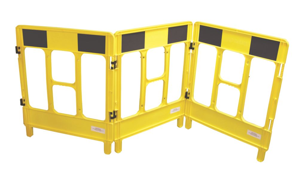 JSP 3-Gate Workgate Barrier Yellow/Black Panel