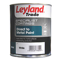 Leyland Trade Smooth Metal Paint White 750ml