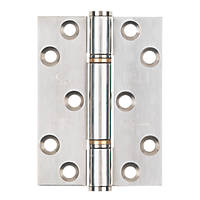 Smith & Locke Grade 13 Thrust Hinges Polished Stainless Steel 102 x 76mm 2 Pack