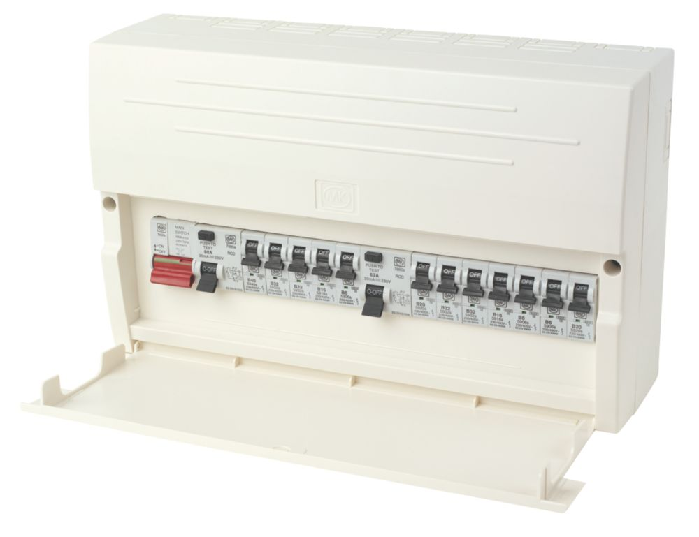 MK Sentry K7678SP 12-Way Dual RCD Board Consumer Unit