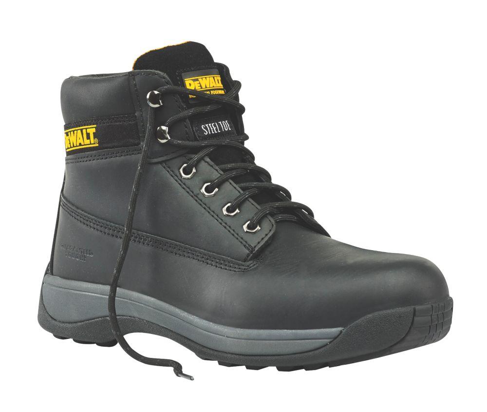 DeWalt Apprentice Safety Boots Black Size 8
