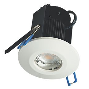 robus fire rated fixed led downlight ip65 white 8w led. Black Bedroom Furniture Sets. Home Design Ideas