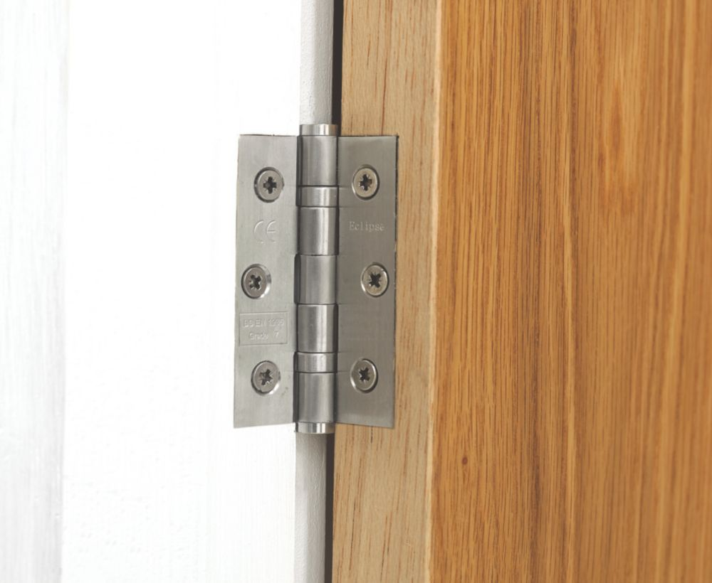 Ball Bearing Hinge Satin Stainless Steel 76mm 1Pr