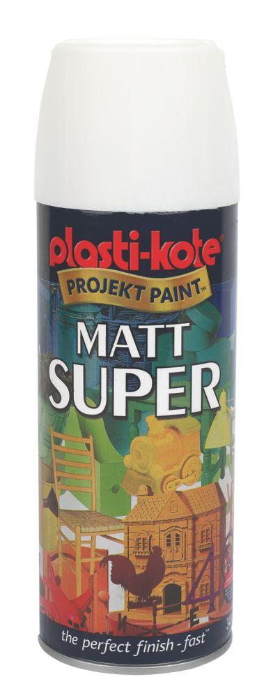 Plasti-Kote Super Multipurpose Matt Spray Paint Matt White 400ml