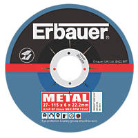 Erbauer Grinding Discs 115 x 6 x 22.23mm 5 Pack
