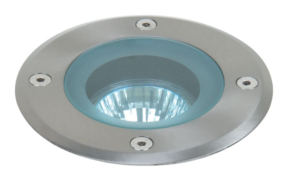 Eden Round GU10 Ground Light Stainless Steel