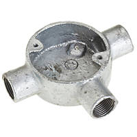 Deta Galvanised Metal Conduit Tee Box 20mm