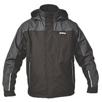 "DeWalt Storm Waterproof Jacket Black / Grey Extra Large 45-47"" Chest"