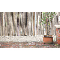 Apollo Natural Timber Split Full Bamboo Garden Screen 2 x 4m
