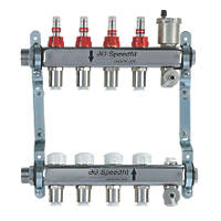 JG Speedfit 4-Port Manifold Set Chrome