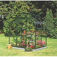 "Halls Supreme 46 Aluminium Greenhouse Green Toughened Glass 6' 3"" x 4' 3"""