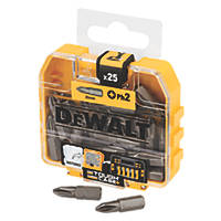 DeWalt Screwdriver Bit Box PH2 x 25mm 25 Pack