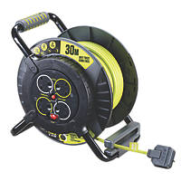 Masterplug PRO XT Anti-Twist Cable Reel 4-Gang 240V 30m