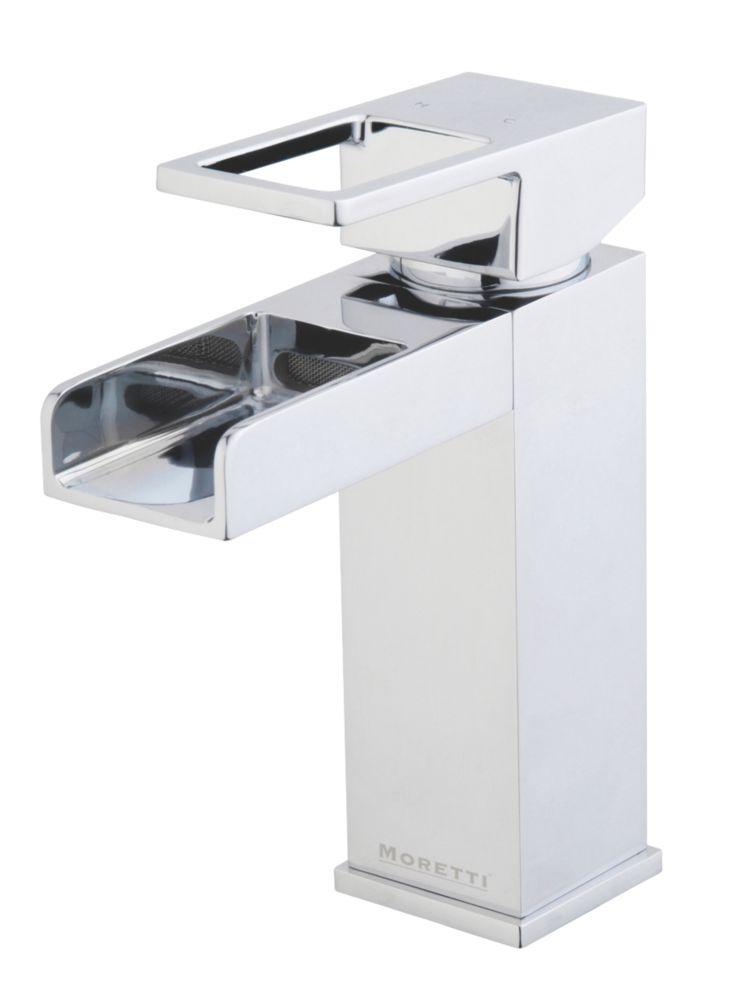 Moretti Lambert Mono Basin Mixer Bathroom Taps with Click Waste