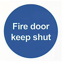 "Nite-Glo  ""Fire Door Keep Shut"" Sign 100 x 100mm"