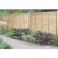 Forest Superlap Fence Panels 1.82 x 1.8m 9 Pack