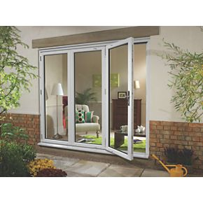 Euramax upvc fold slide double glazed patio door left for Upvc french doors 1790 x 2090mm
