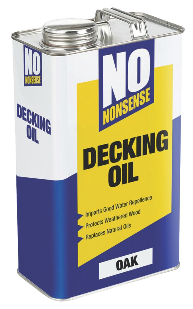 No Nonsense Timber Decking Oil Oak 5Ltr