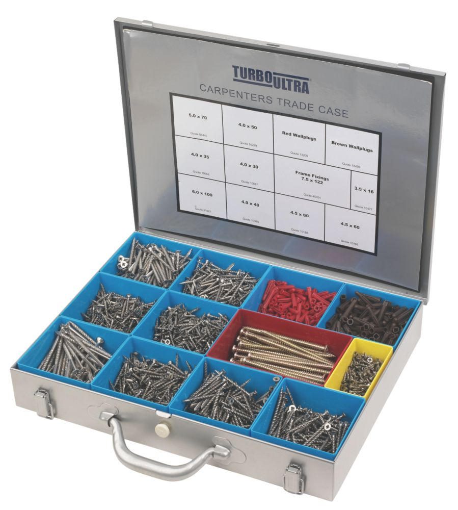 Turbo Ultra Carpenters Trade Case 2000 Pieces