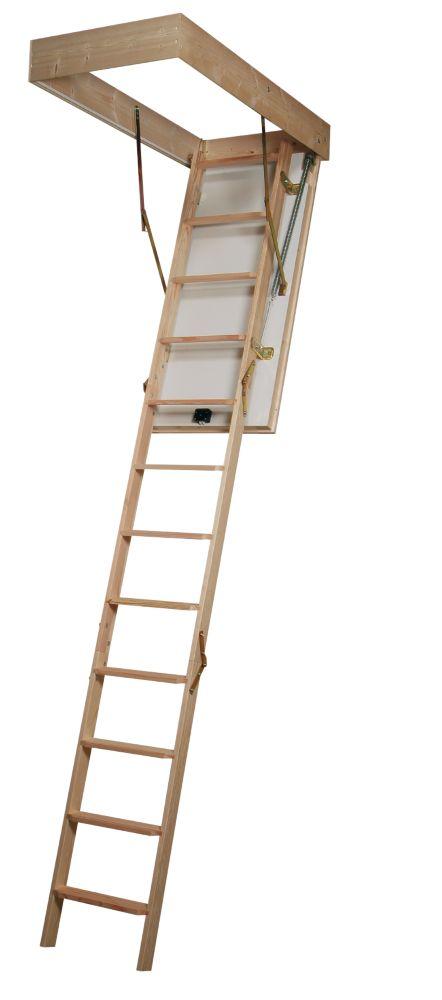 Eurofold Timber 2-Section Loft Ladder 12-Tread