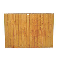 Forest Feather Edge Fence Panels 1.8 x 1.2m 7 Pack