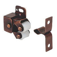 Cabinet Catch Rollers Bronze Effect 32mm 10 Pack