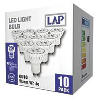 LAP GU10 LED Lamp 250lm 750Cd 4W 10 Pack