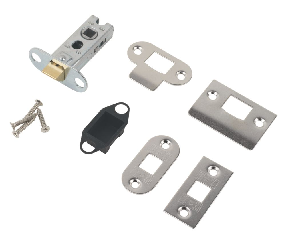 Carlisle Brass Tubular Mortice Latch Nickel Plate 63mm