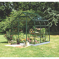"Halls Supreme 66 Aluminium Greenhouse Green Toughened Glass 6' 3"" x 6' 4"""