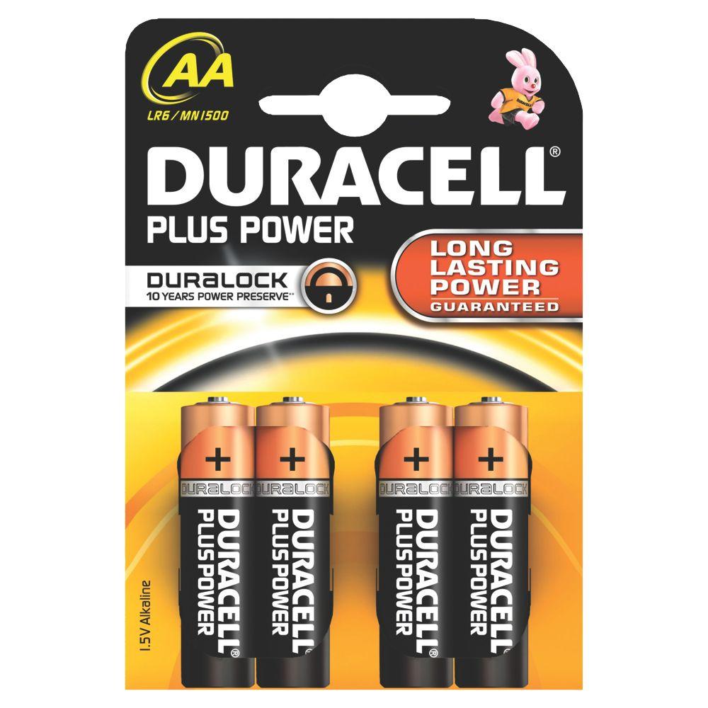 Duracell AA Alkaline Batteries Pack of 4