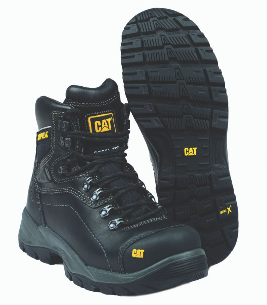 Caterpillar Diagnostic Black Safety Boots Size 6