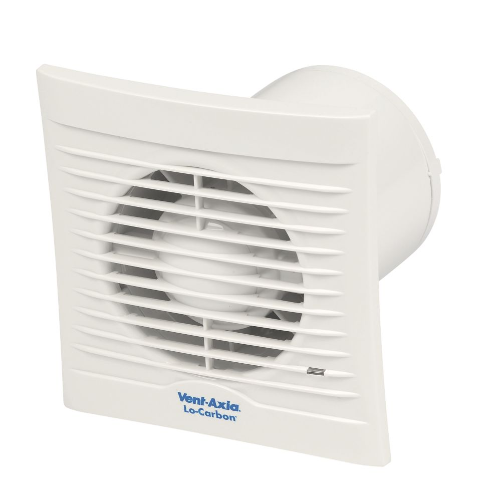 Vent-Axia LoCarbon Silhouette 100T Axial Bathroom Extractor Fan with Timer