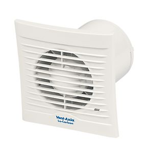 Vent axia 100t 6w locarbon silhouette axial bathroom for 6 bathroom extractor fan with timer