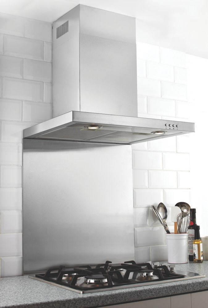 Catering Grade Splashback Stainless Steel 600 x 750mm
