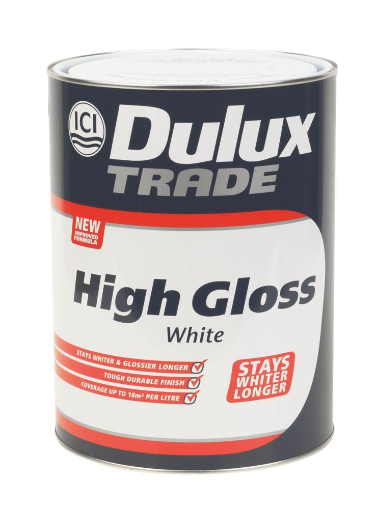 Dulux Trade High Gloss 5L White