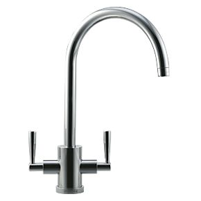 Franke Olympus Dual Lever Mono Mixer Kitchen Tap Brushed