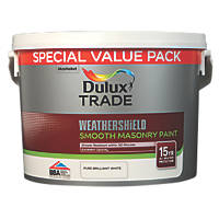 Dulux Trade Weathershield Masonry Paint Pure Brilliant White 7.5Ltr