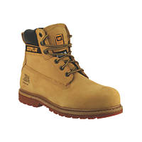 CAT Holton S3 Safety Boots Honey Size 6