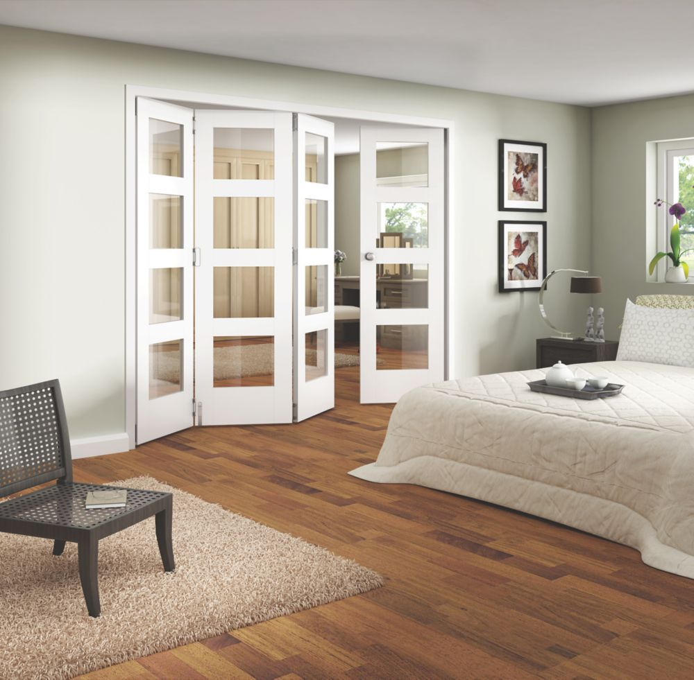 Jeld-Wen 4-Light Internal Room Divider 4-Door White 2552 x 2044mm