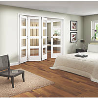Jeld-Wen Shaker 4-Panel Interior Room Divider Primed 2052 x 2550mm