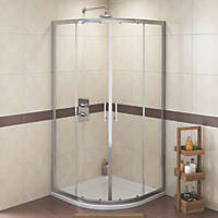 Swirl  Quadrant Shower Enclosure  Silver 800 x 775 x 1800mm