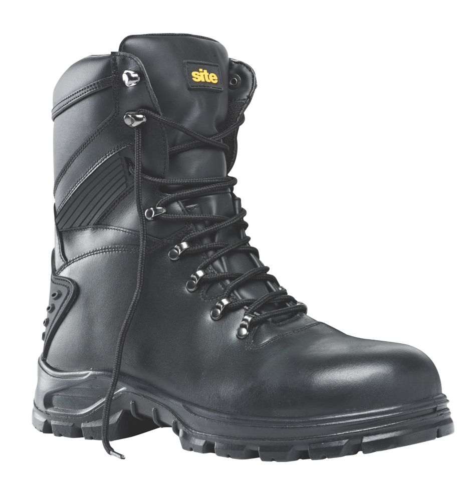 Site Flint Hi-Top Safety Boots Black Size 12